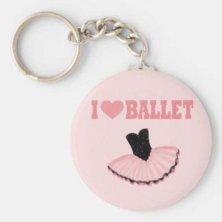 Amo ballet llaveros personalizados