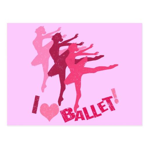Amo ballet tarjeta postal