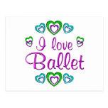 Amo ballet tarjetas postales