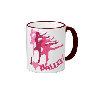 Amo ballet taza de dos colores
