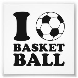 Amo baloncesto del balón de fútbol arte fotografico