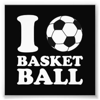 Amo baloncesto del balón de fútbol impresiones fotograficas