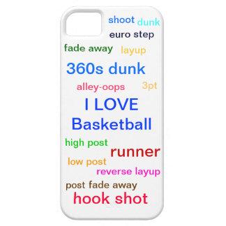 Amo baloncesto iPhone 5 cárcasa