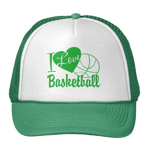 Amo baloncesto gorros bordados