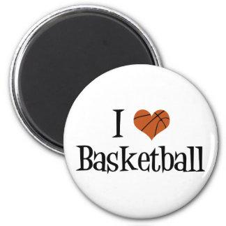 Amo baloncesto imán redondo 5 cm