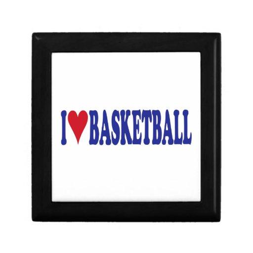 Amo baloncesto joyero cuadrado pequeño
