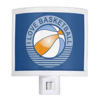 amo baloncesto lámpara de noche