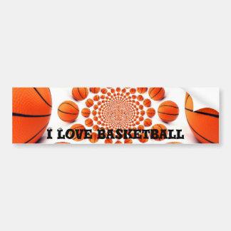 Amo baloncesto pegatina para auto