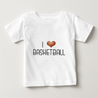 Amo baloncesto playera de bebé