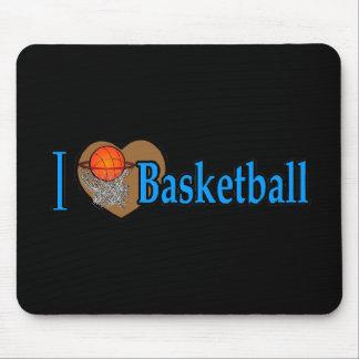 Amo baloncesto tapetes de ratón
