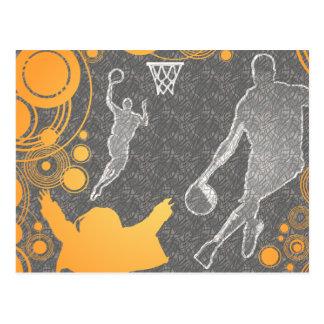 amo baloncesto tarjeta postal