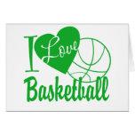 Amo baloncesto tarjetas