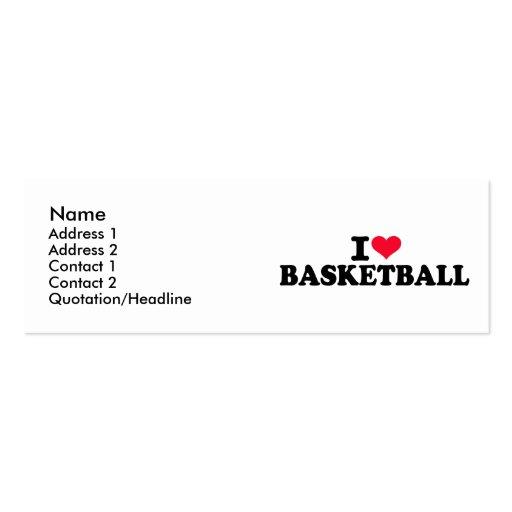 Amo baloncesto tarjetas de visita mini