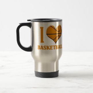 Amo baloncesto taza térmica