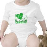 Amo baloncesto trajes de bebé