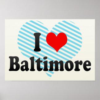 Amo Baltimore, Estados Unidos Impresiones