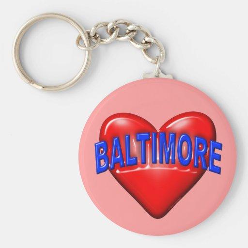 Amo Baltimore Llaveros