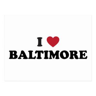 Amo Baltimore Maryland Postales