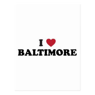 Amo Baltimore Maryland Tarjetas Postales