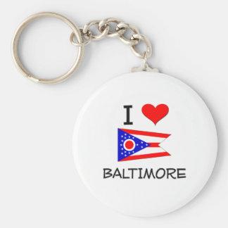 Amo Baltimore Ohio Llavero Redondo Tipo Pin