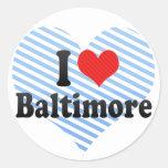 Amo Baltimore Pegatina Redonda