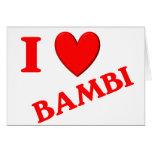 Amo Bambi Tarjeton
