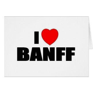 Amo Banff Tarjeta De Felicitación