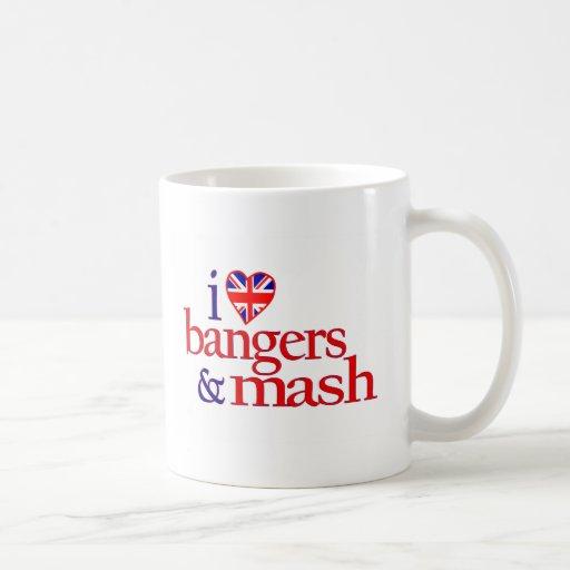 Amo Bangers y el puré Tazas De Café