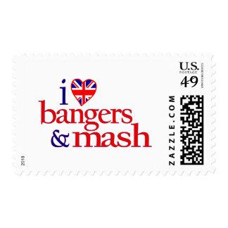 Amo Bangers y el puré Timbres Postales