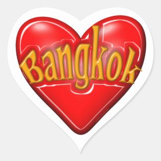 Amo Bangkok Pegatina En Forma De Corazón