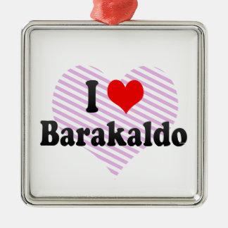 Amo Barakaldo, España Adorno Navideño Cuadrado De Metal