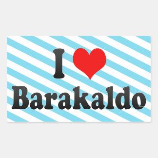 Amo Barakaldo, España Pegatina Rectangular