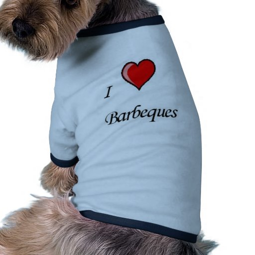 amo barbacoas camiseta con mangas para perro