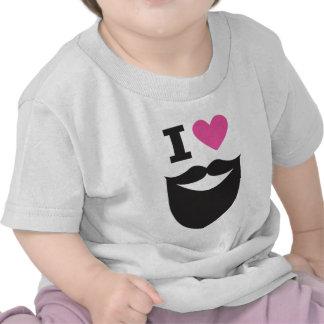 Amo barbas camiseta
