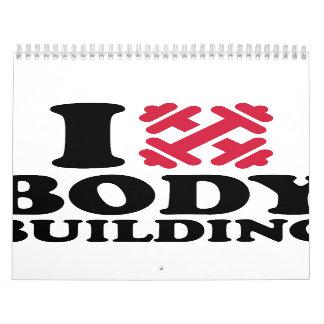 Amo barbells Bodybuilding Calendarios