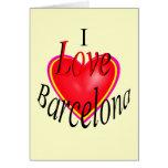 ¡Amo Barcelona! Felicitación