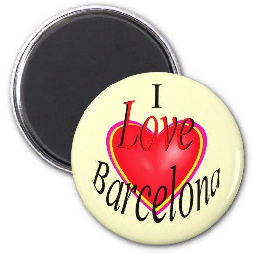 ¡Amo Barcelona! Imán Redondo 5 Cm