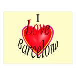 ¡Amo Barcelona! Tarjeta Postal
