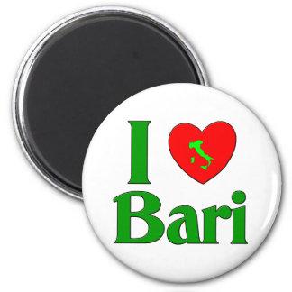 Amo Bari Italia Imán Redondo 5 Cm
