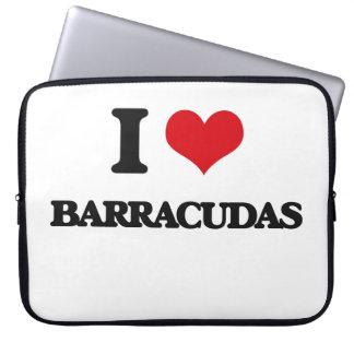 Amo Barracudas Fundas Computadoras
