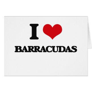 Amo Barracudas Tarjeta De Felicitación