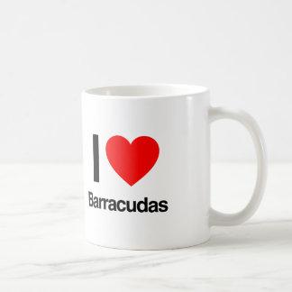 amo barracudas taza de café