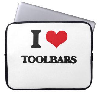 Amo barras de herramientas mangas computadora