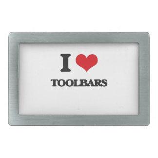 Amo barras de herramientas hebillas de cinturón rectangulares