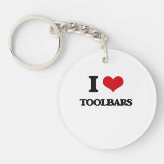 Amo barras de herramientas llavero redondo acrílico a una cara
