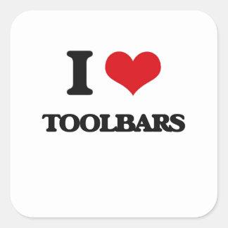 Amo barras de herramientas pegatina cuadrada