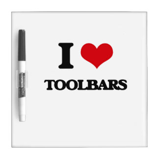 Amo barras de herramientas pizarras blancas de calidad