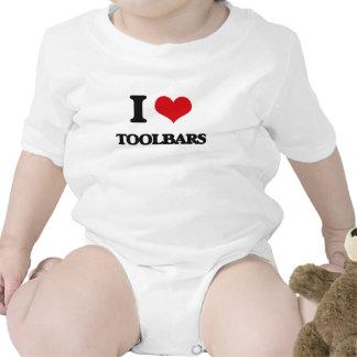 Amo barras de herramientas traje de bebé