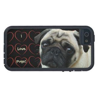Amo barros amasados con los corazones iPhone 5 protectores