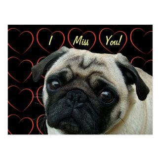 Amo barros amasados con los corazones tarjetas postales